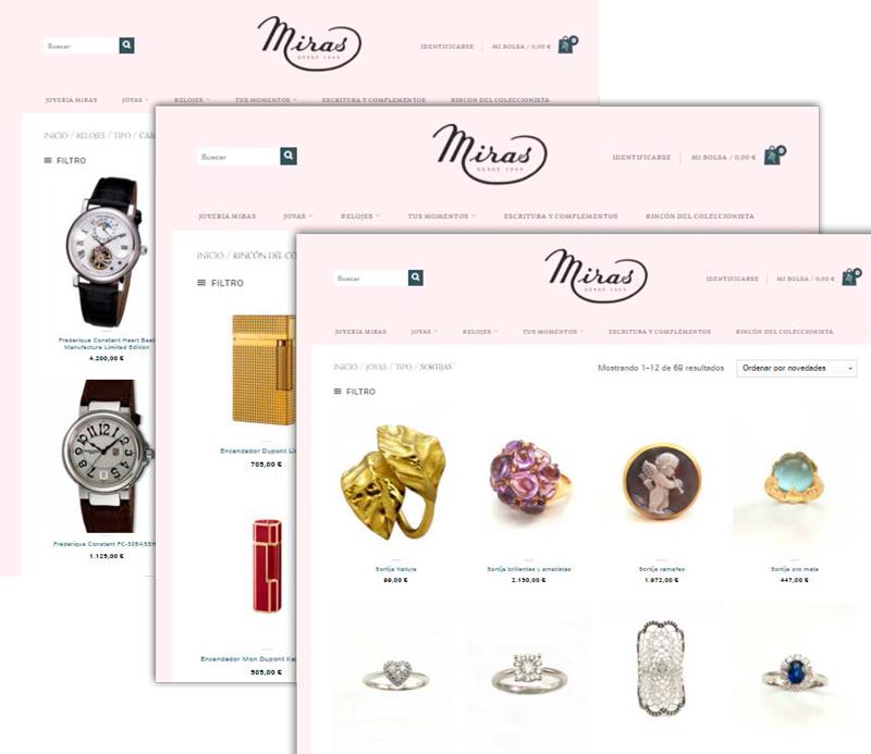 Venta de joyas online.