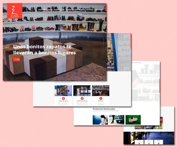 Diseño de la Web para Plaza Suizos Zapatería Almería
