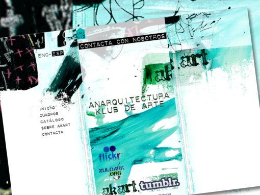AKART-Diseño Web colectivo artístico