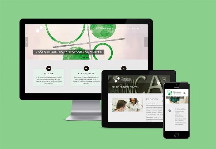 Web adaptativa para Gímenez Clínica Dental Almería
