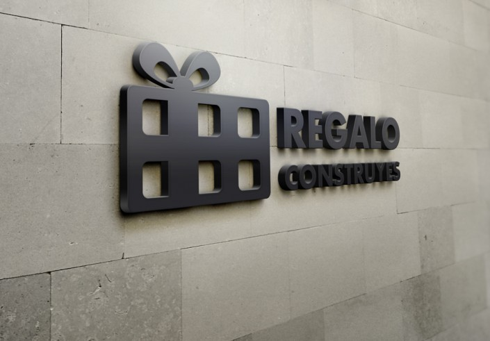 Diseño del logotipo Regalo Construyes