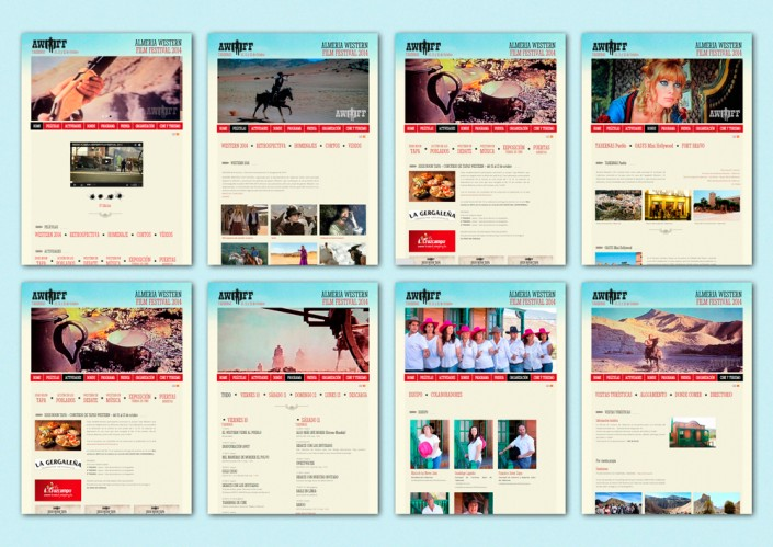 Diseño Web del Almería Western Film Festival