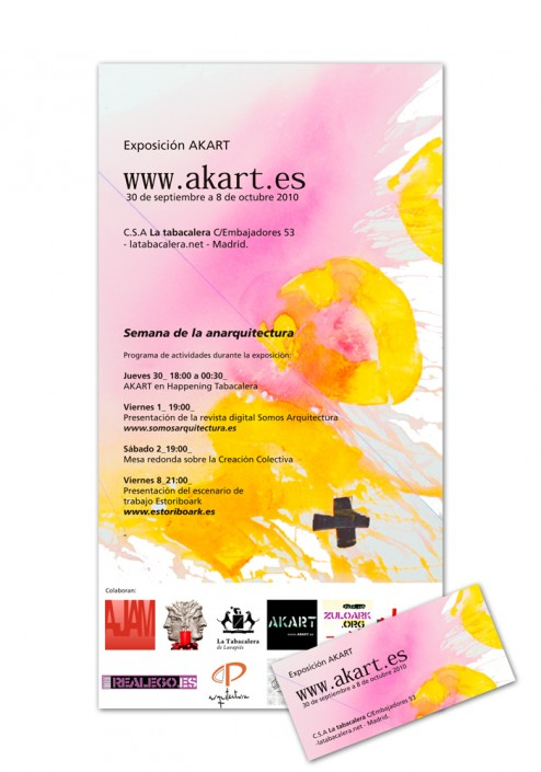 Diseño de Folleto y tarjeta de visita AKART