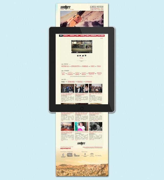 Diseño de la Web adaptativa para el Almería Western Film Festival