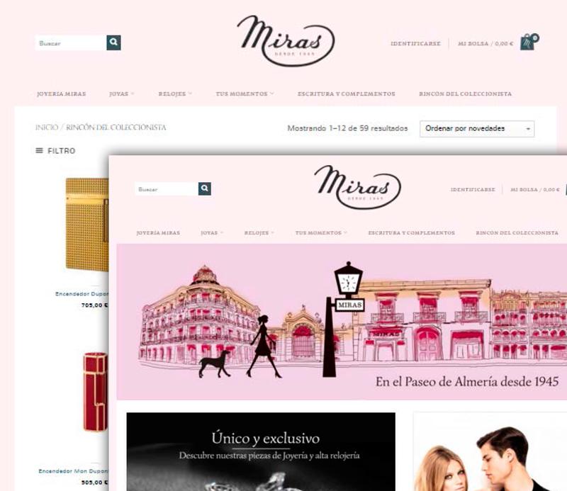 Página Web Joyería Miras Almería