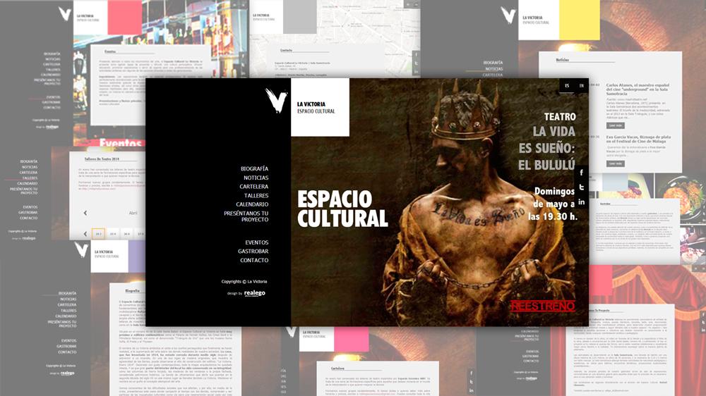 Diseño Web La victoria Espacio cultural Madrid