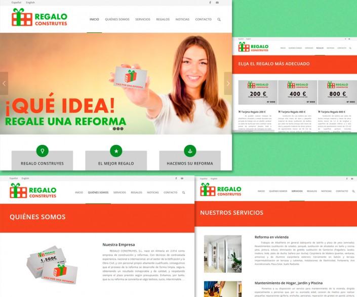 Desarrollo del sitio Web Regalo Construyes