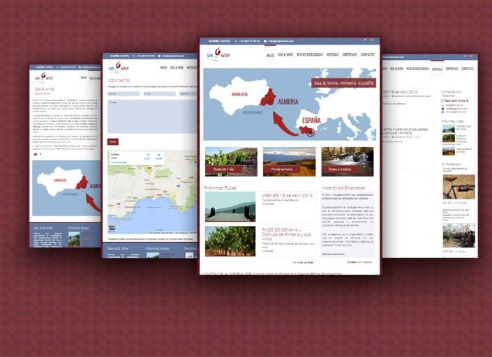 Diseño Web para Sea and Wine-Web turismo Almería
