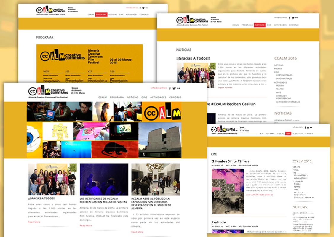 Desarrolo Web para el CCALM Festival cine Almería