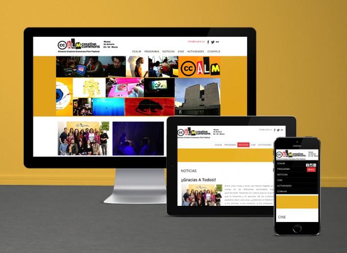Web adadpativa para todo tipo de dispositivos electronicos-Festival cine Almería