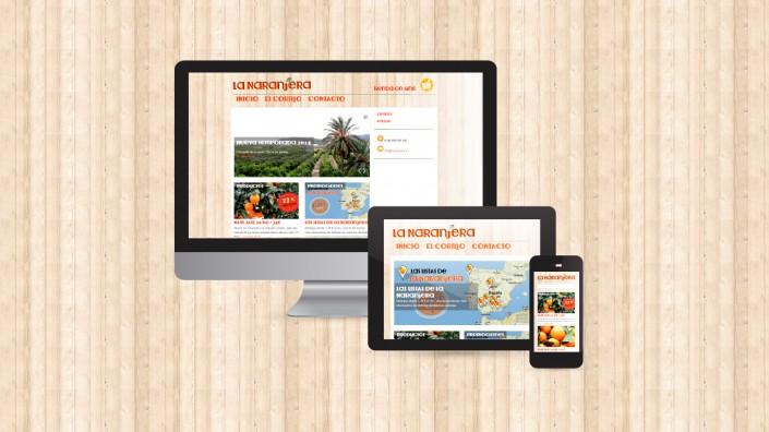 Web adaptativa a dispositivos de La Naranjera