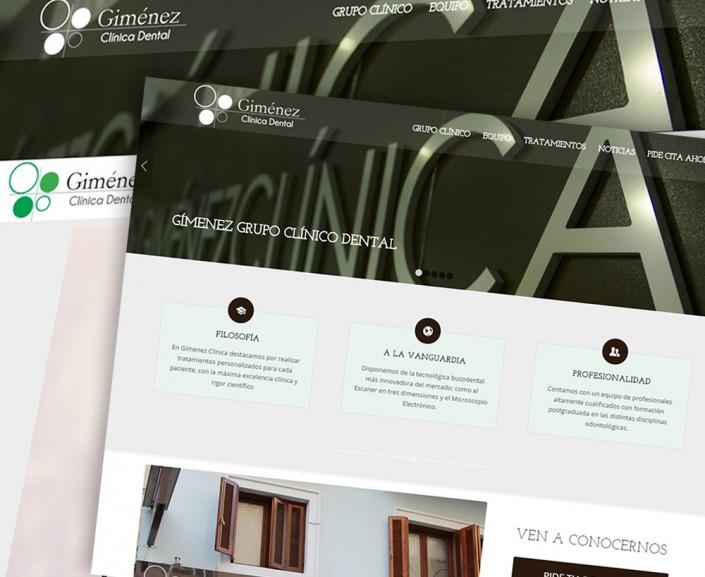 Diseño de WEB para Gímenez Clínica Dental Almería