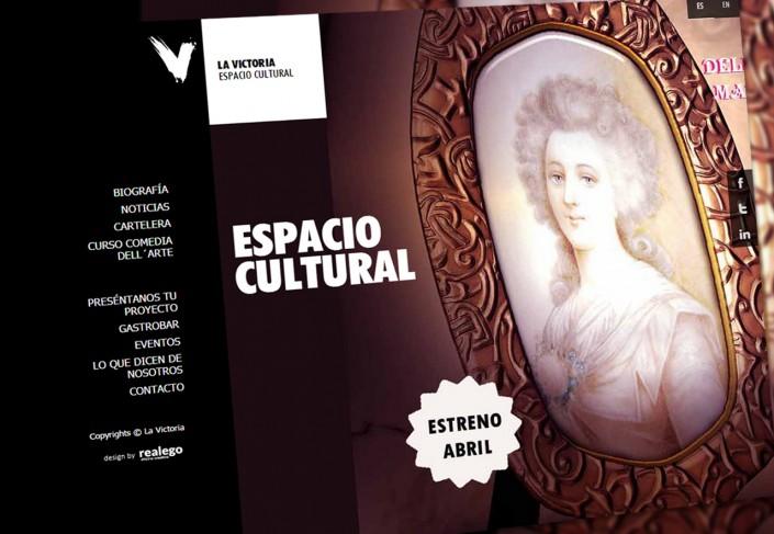 Desarrollo Web La victoria Espacio cultural Madrid