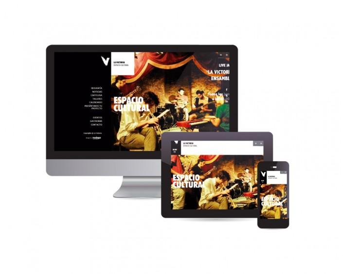 Diseño Web adaptativa para La victoria Espacio cultural Madrid