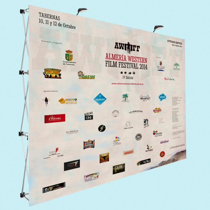 Diseño del photocall Almería Western Film Festival