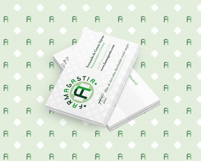 Diseño de la tarjeta de visita para Farmagastia-Diseño corporativo Farmacia