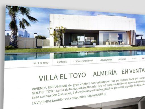 Villa el Toyo Diseño Landing Page
