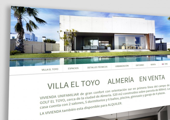 Villa el Toyo-Desarrollo Diseño Landing Page