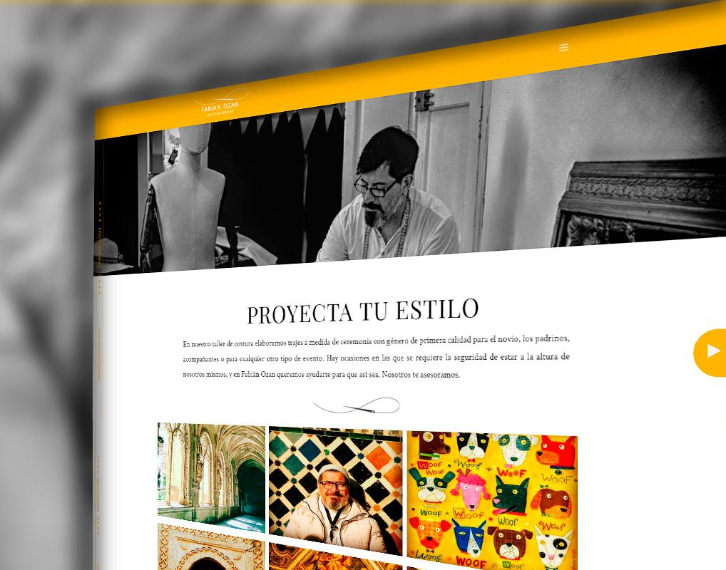 Diseño de la Web para Fabián Ozan