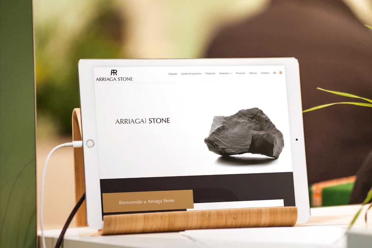 Web adaptativa para Arriaga Stone Mármoles Almería