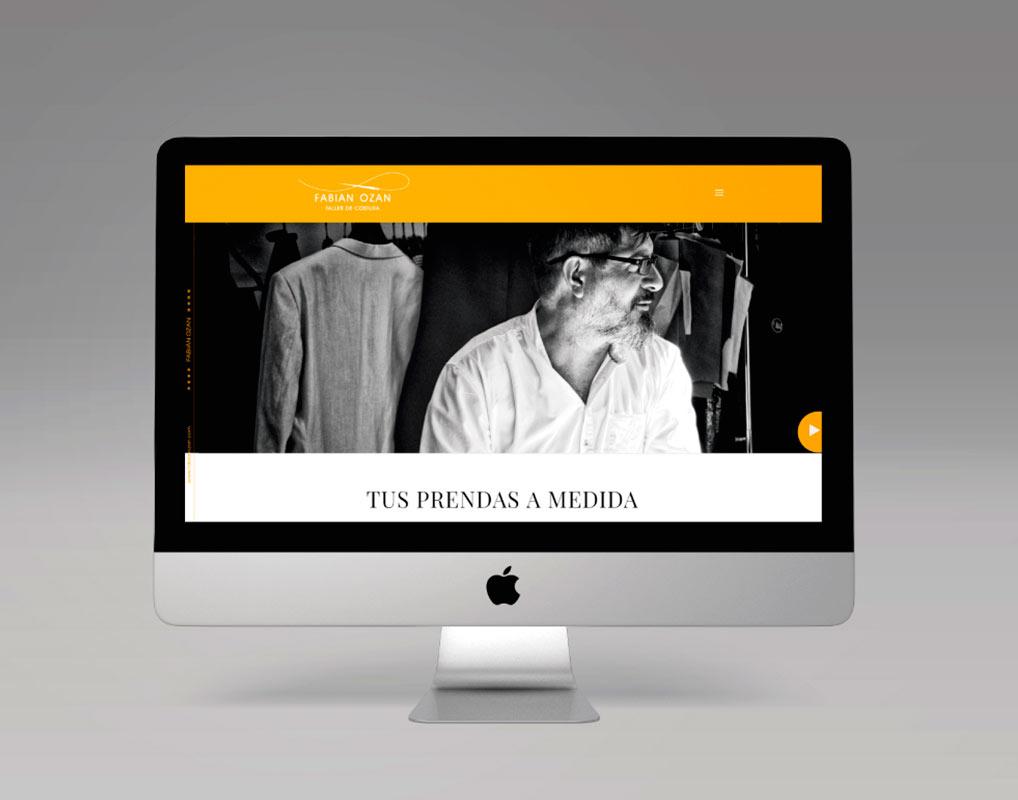 Diseño de la Página Web para Fabián Ozan