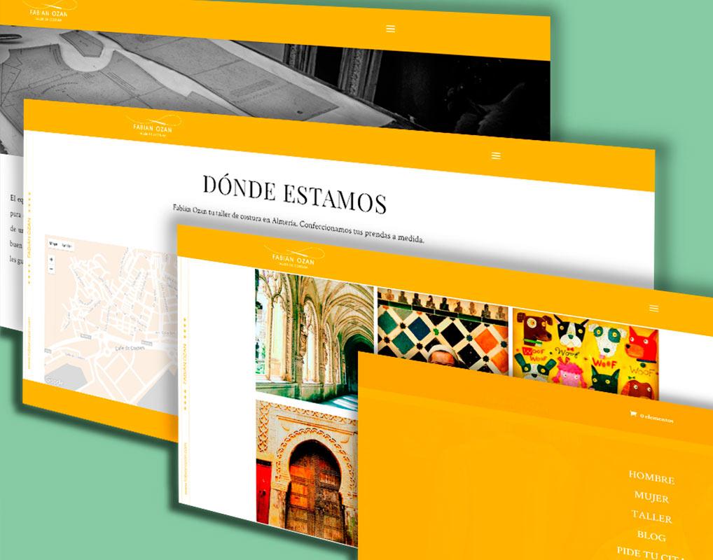 Diseño web para Fabián Ozan
