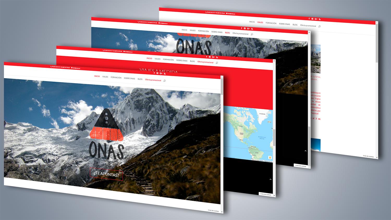 Desarrollo web para ONAS Deportes de Montaña