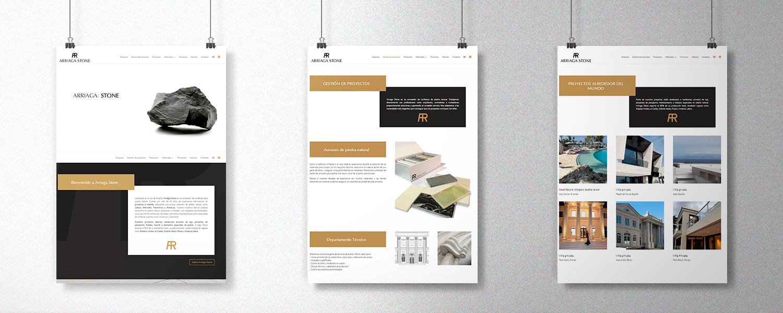 Diseño de catálogo online para Arriaga Stone Mármoles Almería
