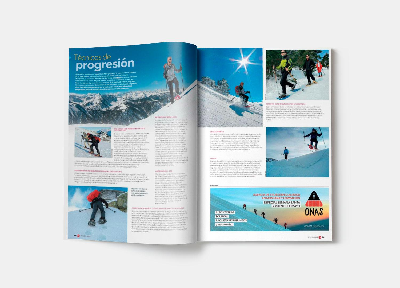 Diseño de banner publicitarios para ONAS Deportes de Montaña