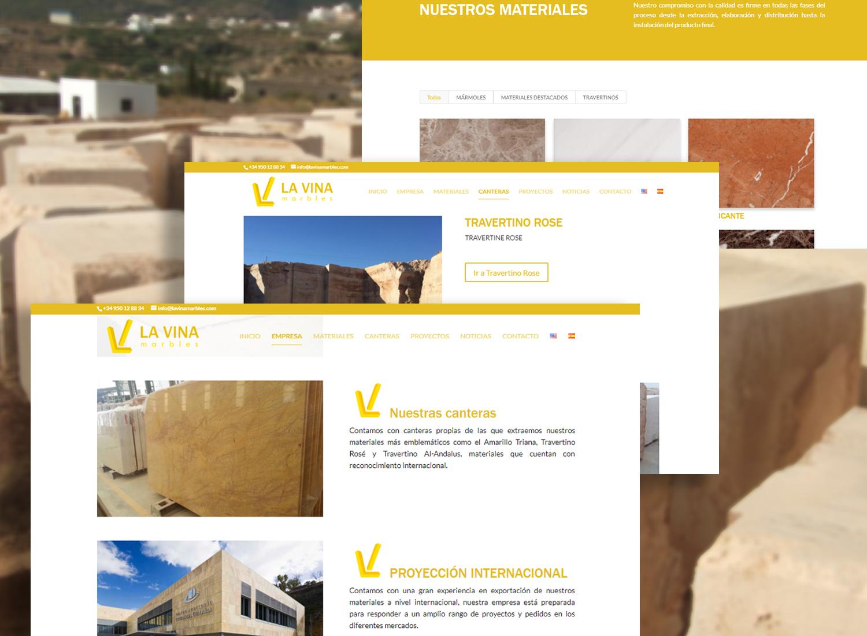 Creación Web para LA VINA Marbles