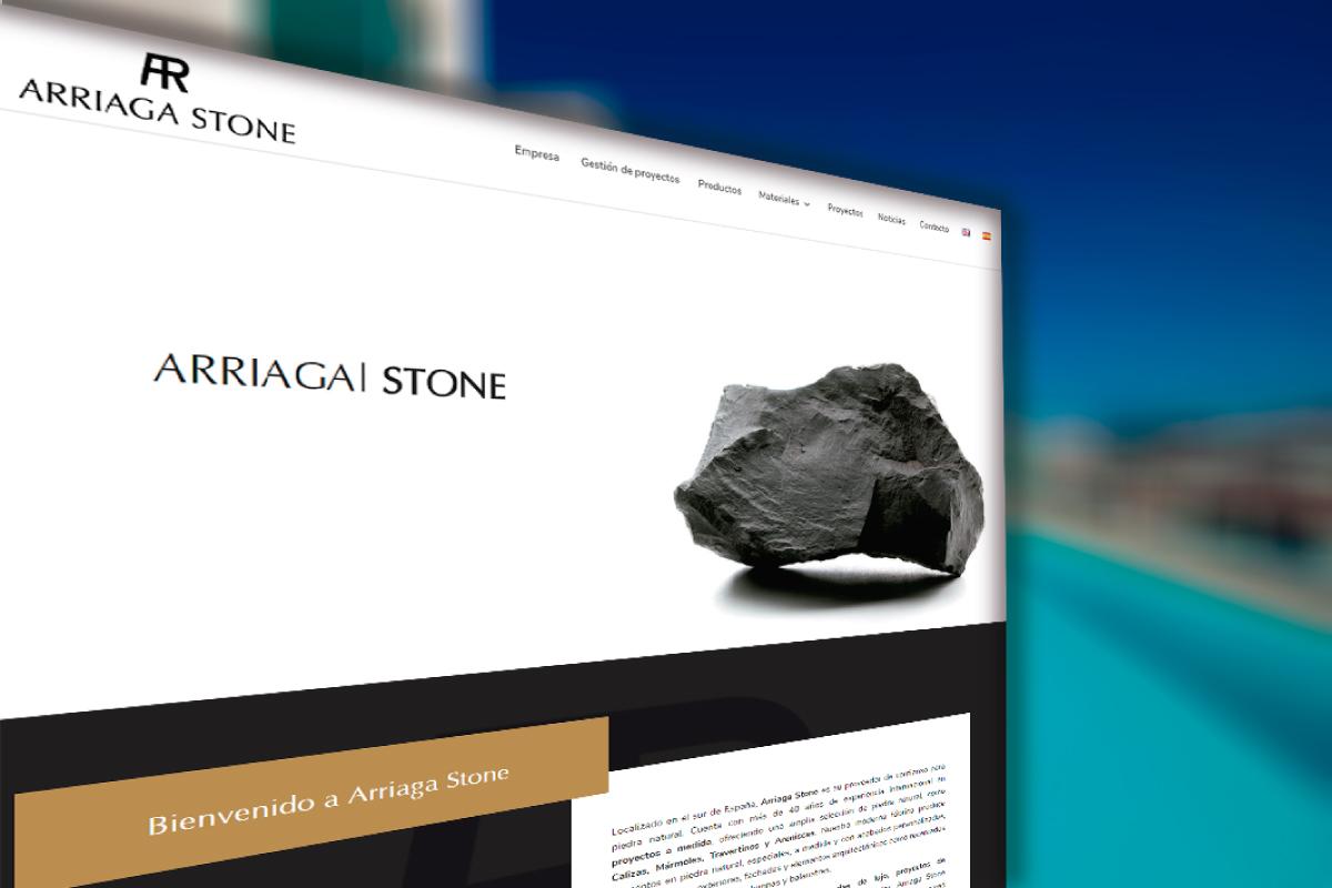 Diseño web para Arriaga Stone Mármoles Almería