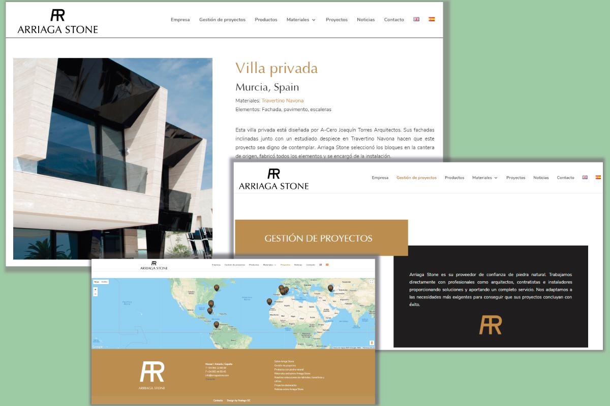 Nueva web para Arriaga Stone Mármoles Almería