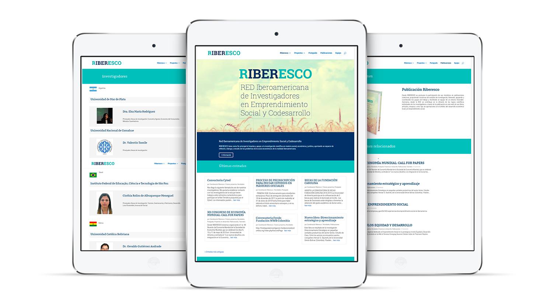 Diseño web para Riberesco
