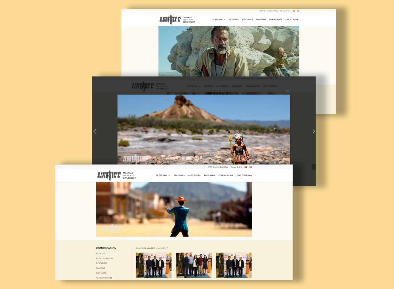 Imágenes promocionales de Almería Western Film Festival por Realego Oficina Creativa