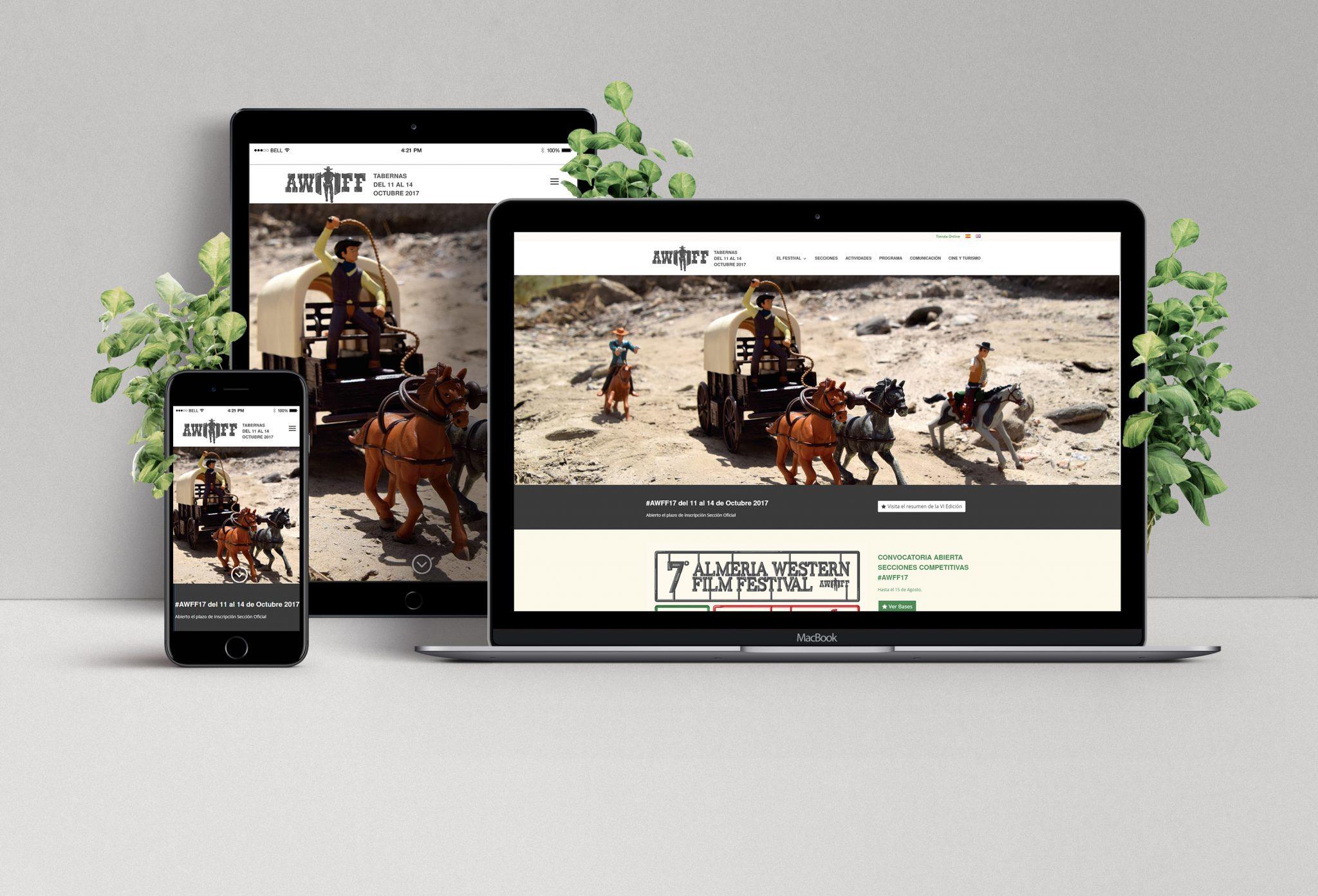 Diseño web adaptativa para Festival de Cine de Almería por Realego Oficina Creativa